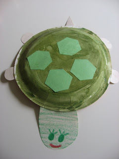 paper plate tortoise