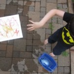Water Balloon Color Mixing- Outside Art Project
