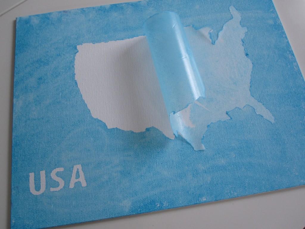 DIY USA Wall Art
