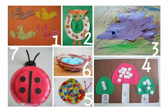 woodland crafts for kids   no time for flash cards
