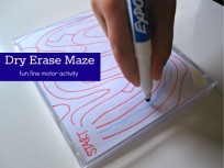 dry erase maze fine motor skills
