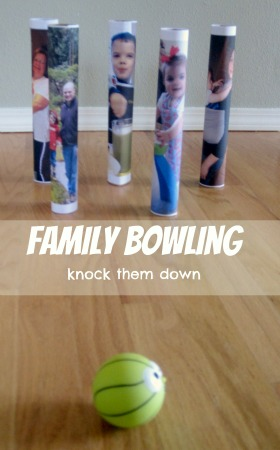paper towel roll bowling