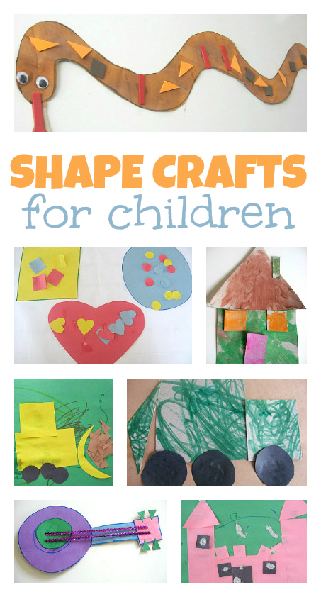 15 shape crafts for kids