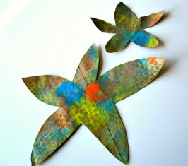 Bubble Wrap Starfish Craft