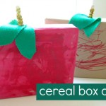 Cereal Box Apples Craft