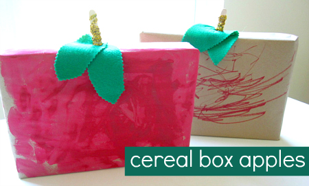 cereal box crafts for preschoolers apple craft 994