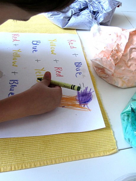 color mixing with shaving cream 3