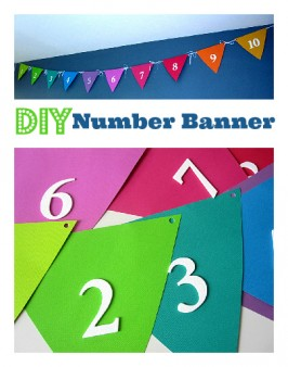 Easy DIY Number Banner