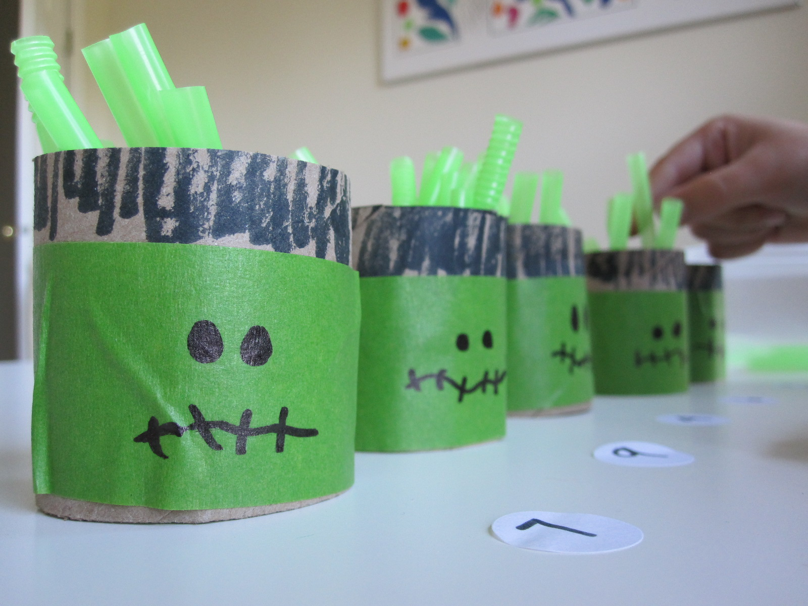 halloween math count and fill - Preschool Crafts For Halloween