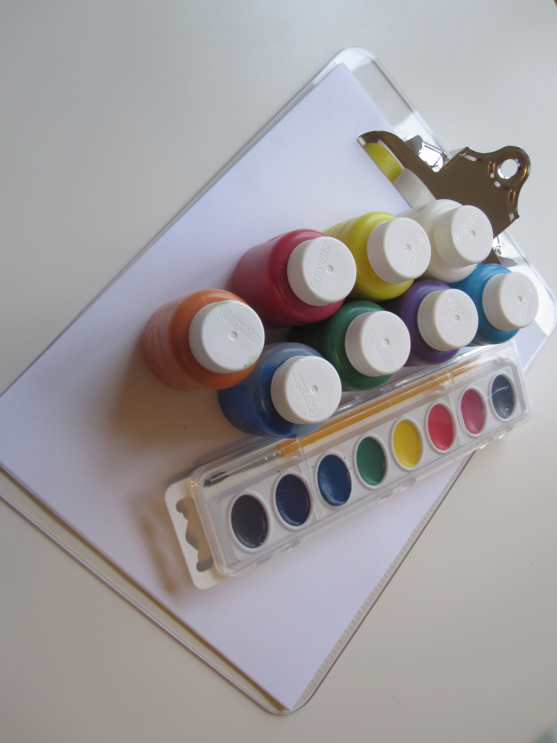 Supplies for easy outside painting