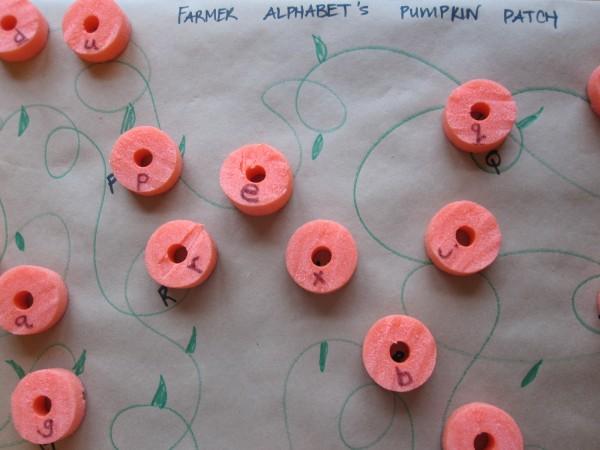 Preschool Pumpkin Patch Letter Match Game