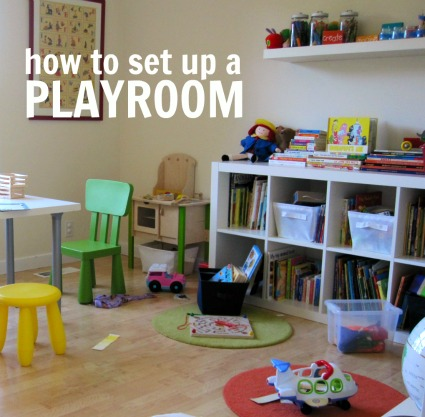 Here is how I set up the room for a one-year-old and 4-year-old > Toddler  & Preschool Playroom