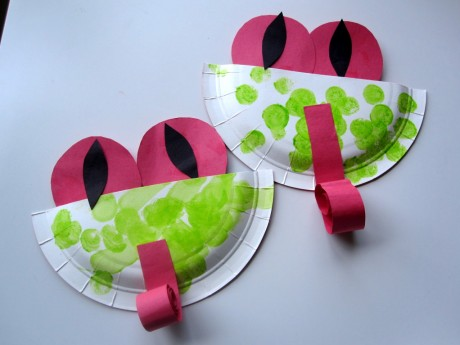 paper plate tree frog craft