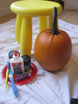 Glitter Pumpkin Craft