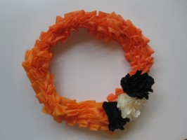 Dollar Store Ruffled Halloween Wreath