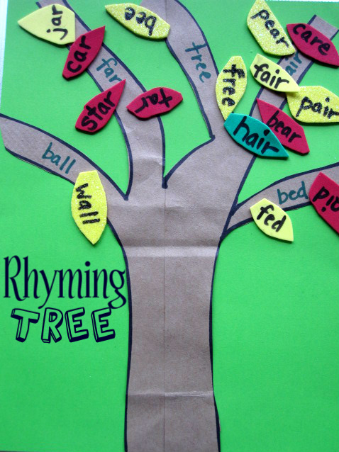 Rhyming Tree - Word Game - No Time For Flash Cards