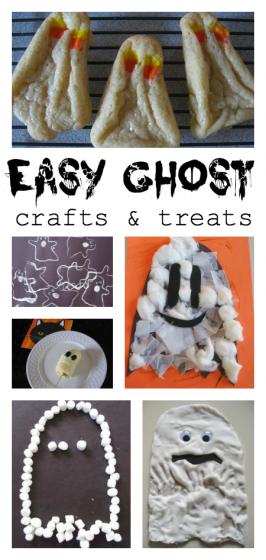 Halloween Ghost Crafts &Treats