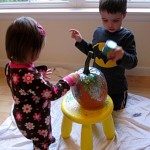 Toddler Friendly Pumpkin Glittering