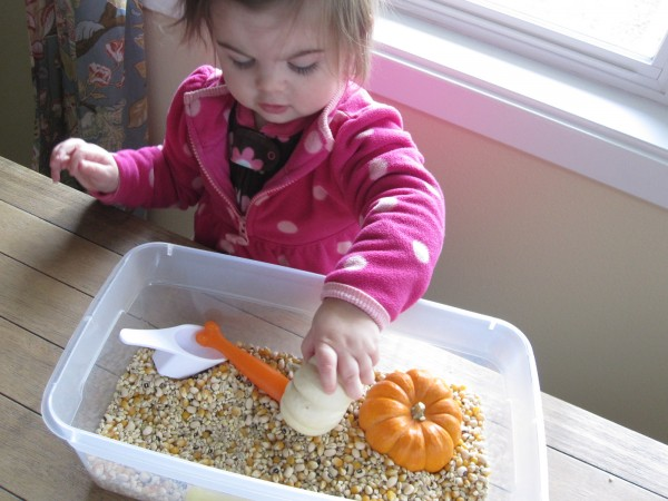 Fall sensory tub for toddlers
