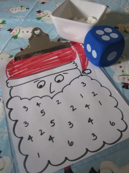 Santa Themed Math Game