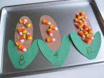 Thanksgiving Math with Candy Corn