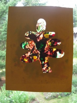 Stained Glass Leaf Craft