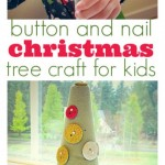 Button and Nail Christmas Tree Craft