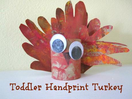 Toddler Handprint Turkey Craft Thanksgiving