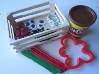 Gingerbread people playdough activity