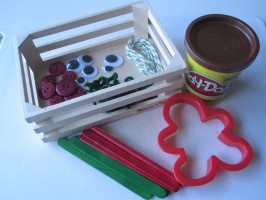 Gingerbread people playdough activity