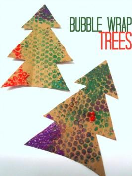 Bubble Wrap Christmas Trees