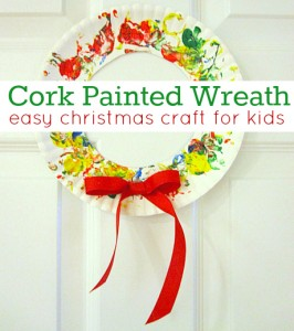 Cork Painted Wreath Craft
