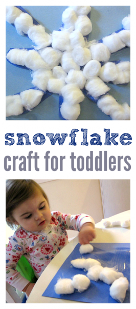 Snowflake Craft For Toddlers