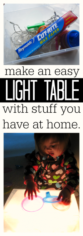 how to make a light table