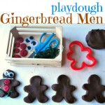 Gingerbread People Playdough Play