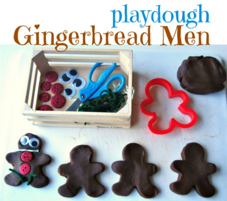 playdough gingerbread men