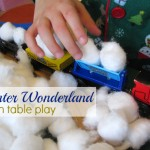Winter Train Table Sensory Play