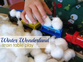 Winter Train Table Sensory Play