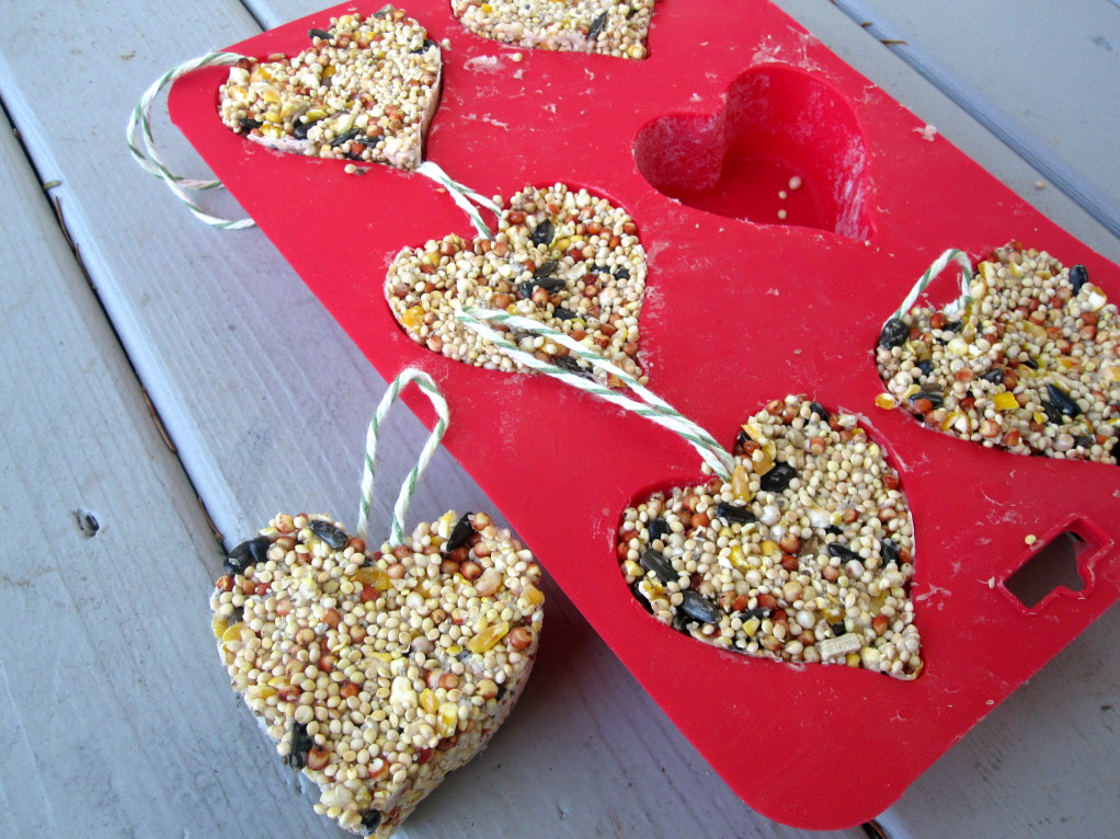 valentines day heart bird seed feeder craft - Valentine Day Crafts For Kids