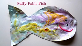 DIY Puffy Paint Fish