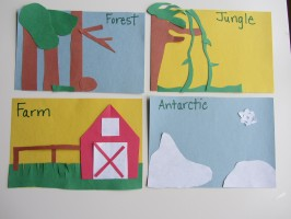 Animal Habitat Lesson PreK
