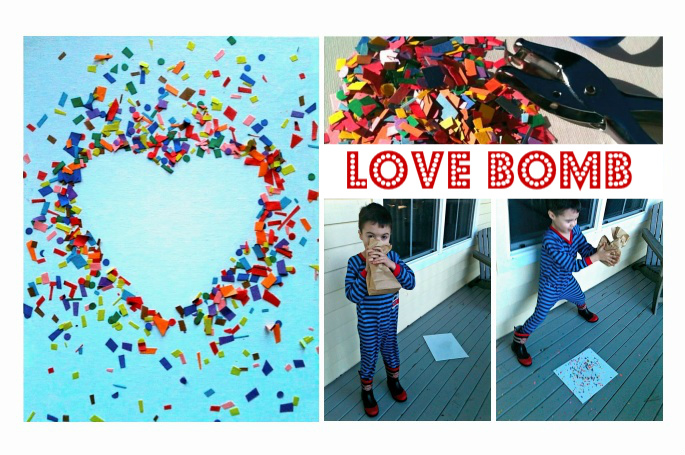 Love bomb valentine 39 s day craft no time for flash cards for Valentines crafts for kindergarten