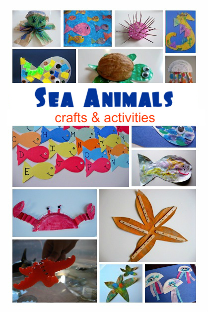Sea Animal Crafts & Activities - No Time For Flash Cards