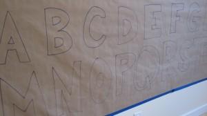 Alphabet wall mural