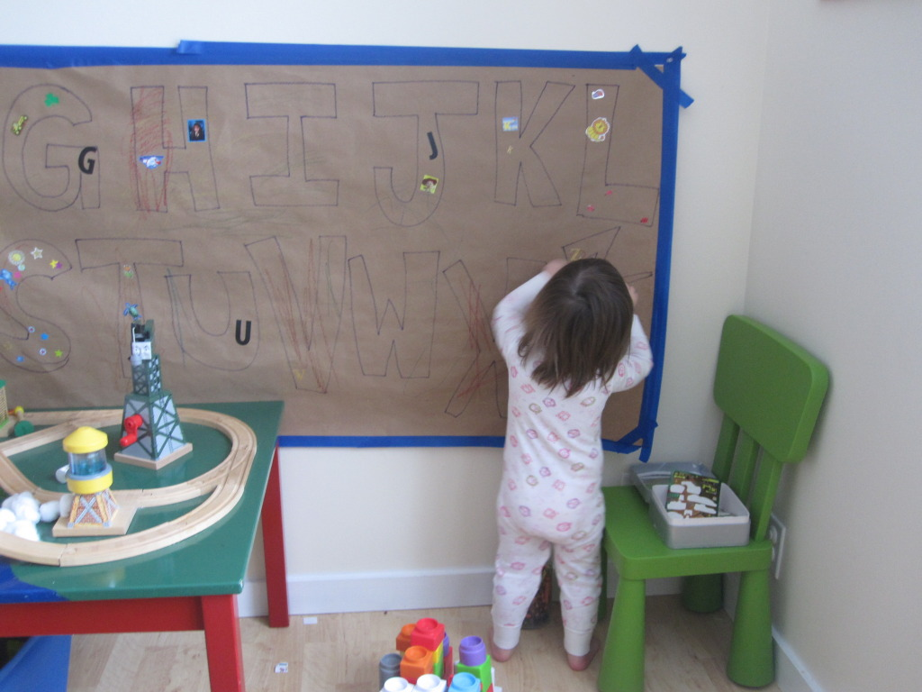 alphabet wall mural no time for flash cards