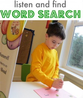 listen and find word search activity