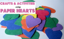 paper heart crafts and activities