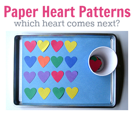 paper heart patterns for math