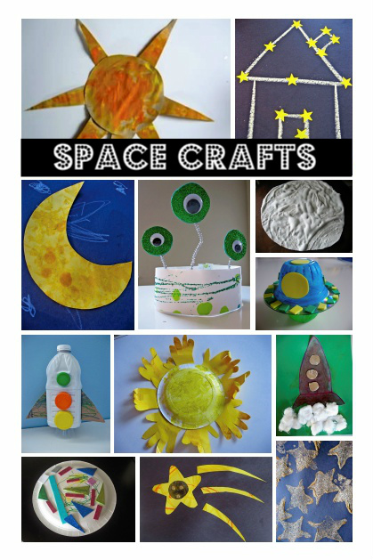 Space themed crafts books no time for flash cards for Art and craft books for kids