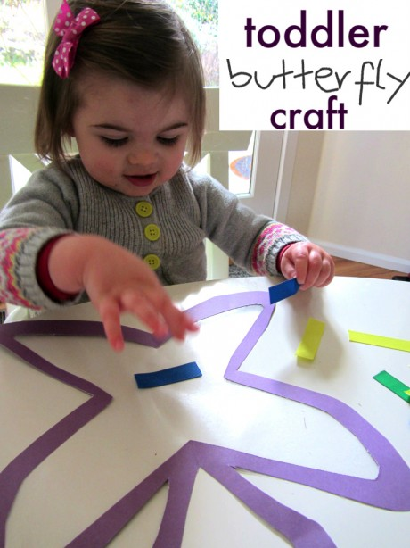 Toddler Butterfly Craft No Time For Flash Cards